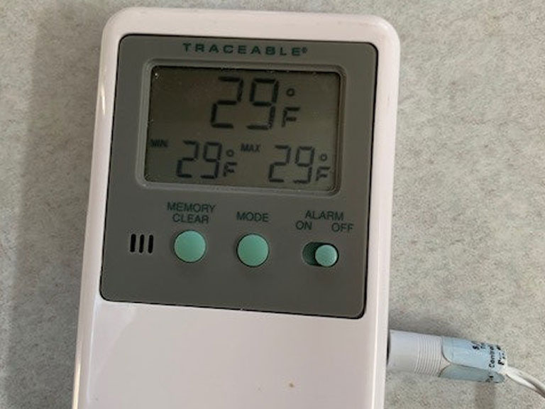 Thermostat at 29