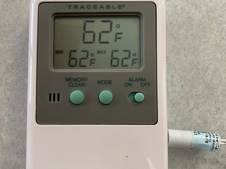 Thermostat at 62